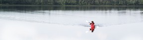 Wilderness kayaking was one of the items that will be featured by Fairchild Television which was in Timmins last week to highlight local tourism choices. Timmins Times LOCAL NEWS photo by Len Gillis.