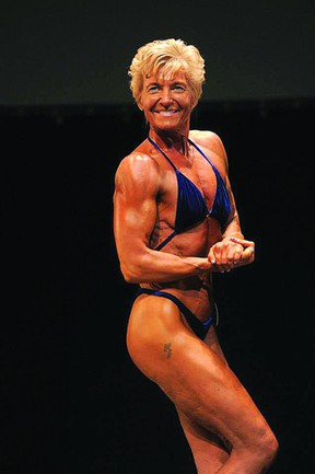 Sherwood Park's Sylvia Kiel continues to train seven days a week for bodybuilding, even though the 50-year said she will no longer compete. Photo Supplied