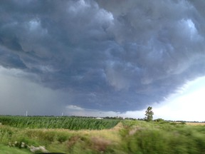 Storm clouds rolled through Merlin around 7:30 p.m. Friday. (Submitted photo by Melissa Doyle)