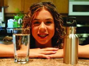 Robyn Hamlyn, 14, is spending her summer travelling across the province to various municipalities in Ontario, speaking about water conservation for what's known as the Blue Communities Project.    (ROB MOOY - KINGSTON THIS WEEK)