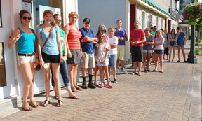 The Kincardine Dairy Queen opened its doors July 18, 2013 to a hungry crowd. A patient crowd waits outside for the opening at 9 a.m. (ALANNA RICE/KINCARDINE NEWS)
