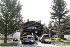 The burned out remains of 103 Aspen Ridge Crescent July 17. Damage is estimated at $400-450,000.