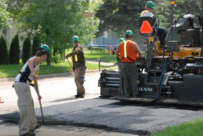 Paving crews were out in full force last week taking care of a number of spots around Melfort.