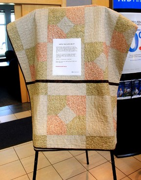 Quilt being raffled
