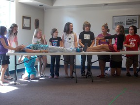 The Imaginators rehearse their piece on July 25 before presenting it to their parents. - Caitlin Kehoe, Reporter/Examiner