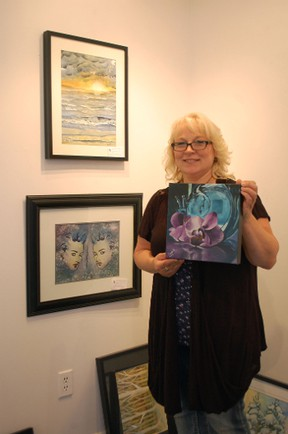 Artist of the Month Jenny Sikma will be showcasing her art at the Victoria Park Gallery for the month of August. (ALANNA RICE/KINCARDINE NEWS)