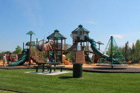 Kids took advantage of the playground at Rotary Park as soon as it opened on Friday, Aug. 2. Johnna Ruocco | Whitecourt Star