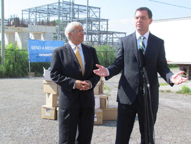 Vic Fedeli and Tim Hudak.
