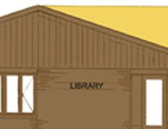 This is a rendering of what the Powassan and District Union Public Library is proposing with its expansion. To the left is the existing building and to the right is the expansion which would add 300 square metres to the building.