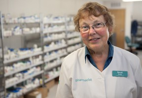 Linda Hiller has been the Pharmacy Manager at Rexall for over five years and has been working out of Rexall's temporary location, getting prescriptions to residents of High River since it opened.