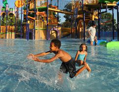 Kids splash away at The Count's Splash Castle at Sesame Place in Philadelphia. R. KENNEDY/GPTMC PHOTO