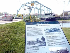 The Water St. bridge in St. Marys will remain closed until an environmental assessment report is completed. (SCOTT WISHART The Beacon Herald)