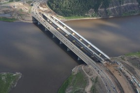 Construction workers upgrade the Steinhauer and Athabasca Bridges. TODAY FILE PHOTO