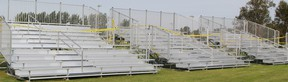 New bleachers are being installed by the Mattagami River this week as the city prepares for the fifth annual Kayak Challenge and Festival.