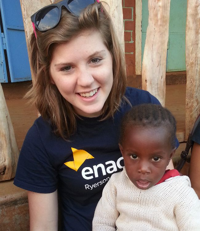 "Heather Norris, of RR 2 Staffa, is pictured with a child from Kenya. ""I really connected with her when I was there, but she would never smile for me,"" Norris said."