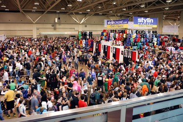 Fan Expo continues in Toronto on Saturday, August 24, 2013. It is Doctors Who's 50th Anniversary, fans meet and greet celebrities and plenty of goods to purchase attracted  thousands to the event. Veronica Henri/Toronto Sun/QMI Agency
