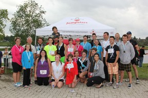 """There were a total of 25 people that participated in the """"Bring Back Cochrane's Triathlon"""" event including individual and team competitors."""