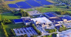 The Procter and Gamble plant sprawls across the northeastern tip of Brockville's north-end industrial park, and beyond that, an equally sprawling solar farm.