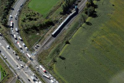 A Via train and an OC Transpo commuter bus collided in Ottawa on September 18, 2013. (MAXIME LANDRY/QMI Agency)