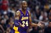 Los Angeles Lakers shooting guard Kobe Bryant (24) reacts to a referee's call in Los Angeles, California April 7, 2013. (REUTERS/Alex Gallardo)