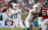 Ryan Tannehill loads up for a pass during Sunday's win over Atlanta. (Getty Images)