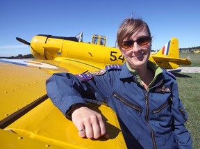 Andrea Kuciak has taken flight with the Canadian Harvard Aircraft Association, the first female pilot to do so. An enthusiastic flyer in a variety of disciplines, Kuciak is pleased to be 'just one of the CHAA boys.' Jeff Tribe/Tillsonburg News