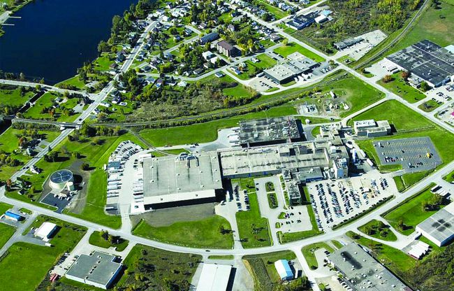 An aerial photo of the former Hershey plant in Smiths Falls. (FILE PHOTO)