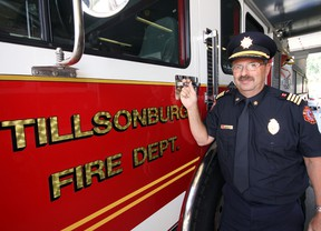 Terry Saelens is 'honoured' to have been named the Tillsonburg Fire Department's new deputy chief. Deputy Chief Saelens brings 'thirty-nine-and-seven-eighths' years of experience to the position. Jeff Tribe/Tillsonburg News