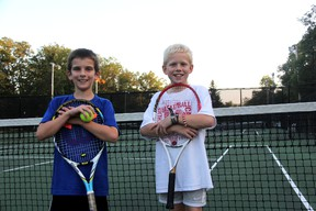 After finishing in the top three of a regional qualifier, Evan Duggal (left) and Jaxon Bore are headed to the U9 Ontario Club Championships in November. (MELANIE ANDERSON, The Observer)