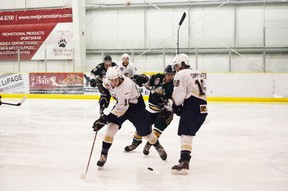 Centre Tyler Busch (No. 10) was good for two power-play goals in a losing cause against Okotoks at the AJHL Showcase last week. - Thomas Miller, Reporter/Examiner