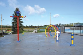 The Lucknow Splash Pad is ready to go for next year as it was recently tested and winterized. It will be ready for 2014 when the warmer months come back for the kids to enjoy. The splash pad will be adjacent to the Lucknow Pool and the Lucknow Splash Pad Fundraising Committee hope it will give kids hours and hours of fun.