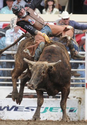 Bull rider Tanner Girletz says cellphones were considered hi-tech when he started on the circuit, but he has since become active on twitter and an active blogger. (QMI Agency)