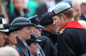 Prince Harry attends the Field of Remembrance service at Westminster Abbey in London. WENN.com