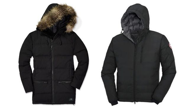 """<b>SNOW DESTINATION</b><br><br> Winter jacket<br> Having to pack an enormous parka can be a bummer, especially if luggage space is scarce. Luckily, many winter jackets are now made to be lightweight, keep you warm and be functional. In this case, you can choose fashion and function. Try these ones on: Canada Goose's Lodge Hoody ($450, <a href=""""www.canada-goose.com"""" target=""""_blank"""">canada-goose.com</a>) and Aritzia's TNA Courchevel Parka ($375, <a href=""""http://aritzia.com/"""" target=""""_blank"""">aritzia.com</a>)."""