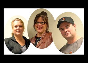 Kendal Causyn, Kelsey's Restaurant Tillsonburg... Kelly Spencer, Indigo Cafe and Eatery... and JP Mooney, JP's Barbecue and Catering are three of seven culinary contributors to this year's Battle of the Hors D'Oeuvres at the Tillsonburg Community Centre, a fundraiser for Big Brothers Big Sisters of Ingersoll, Tillsonburg and Area on Friday, Nov. 22. CHRIS ABBOTT/TILLSONBURG