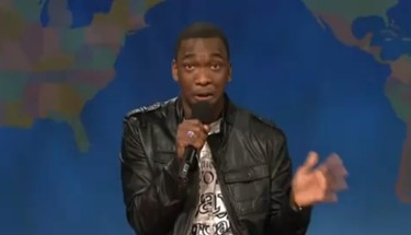"""Drake. PLAYED BY: Jay Pharoah. GRADE: D. Pharoah came on """"Weekend Update"""" to rap about Thanksgiving in the voices of his favourite hip hop stars. While his Jay-Z was amazing, his version of Drake was flat. A little auto-tune might have helped."""