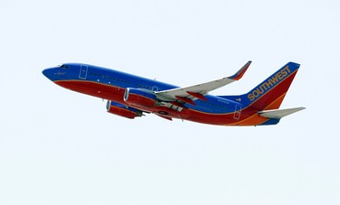 """Airline: Southwest Airlines. Health score (out of five): 2. Platkin's comments: """"Not much variety and not much in terms of nutritional value. They need to add a few healthy items. How about an apple?"""" (Reuters files)"""