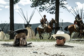 Promotional photo from the movie, The Lone Ranger. A Red Deer man was pulled over after allegedly watching the flick while driving on the QEII. FILE PHOTO