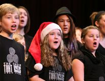 Youngsters perform during the 74th Annual Sun Times CFOS Christmas Fund Broadcast at the Roxy Theatre in Owen Sound in a Sun Times file photo. (Sun Times files)