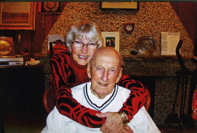 Danny McLeod and his wife Sheila on the occasion of the old soldier's 92nd birthday on Nov. 5. (Supplied photo)