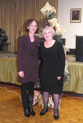 The Lucknow Chamber of Commerce (LCOC) breathed life into its Christmas Party for the first time in 10 years on Nov. 30 at the Lucknow Community Centre. About 240 people were in attendance from throughout the community. The LCOC said it was pleased with the turn out and is looking forward to the possibility of keeping the event going. Lynn Shepherd-Adamson and Lillian Abbott performed 'Virtues of living in Lucknow,' a skit performed at LCOC Christmas Party. (SUBMITTEd
