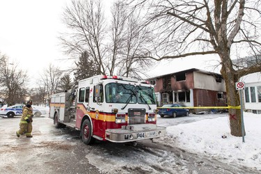 Scene of a house fire at 1396 Claymor in the west end of Ottawa where two people died. December 14,2013. Errol McGihon/Ottawa Sun/QMI Agency