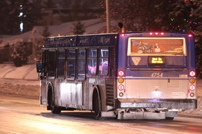 City council approved a late night transit pilot project that will see four  Edmonton Transit System (ETS) bus route and one LRT line run from 1 a.m. to 3 a.m. starting September 2015. However, the project requires budgetary approval before it can go ahead. FILE PHOTO
