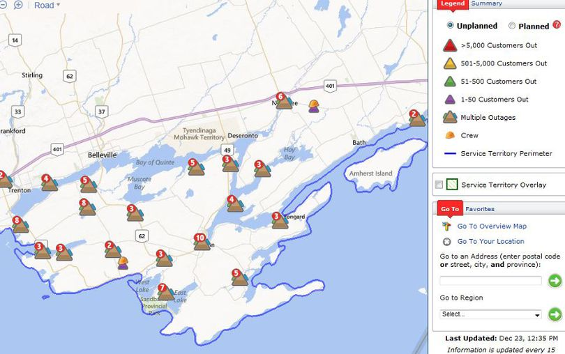 hydro one power outages map with Storm Update County Still Blacked Out on barriehydro also Major Hydro One Power Outage furthermore Thousands Blacked Out By Ice And Rain Storm In Southern Ontario And Quebec 1 besides Storms Leave Thousands Without Power In Elgin County 1 further Napanee Residents Without Power.