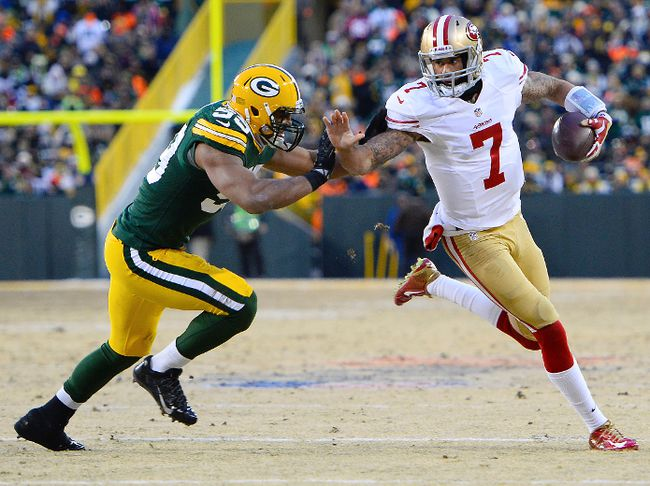 Kaepernick marches 49ers to last-minute win against Packers