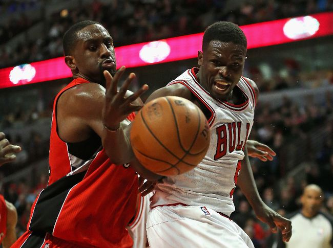 Luol Deng was traded from the Chicago Bulls to the Cleveland Cavaliers late Monday night. (JONATHAN DANIEL/Getty Images/AFP)