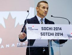 Executive director of Hockey Canada Steve Yzerman announces the roster of the Canadian men's Olympic hockey team at the Mastercard Centre in Toronto ahead of the Sochi Winter Olympics. (ERNEST DOROSZUK, QMI AGENCY)