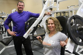 Corunna Fitness Centre owner Ron Theriault, is pictured with his wife Shelly at the Hill Street gym. Theriault, 41, opened the new Corunna gym last month. (TYLER KULA, The Observer)