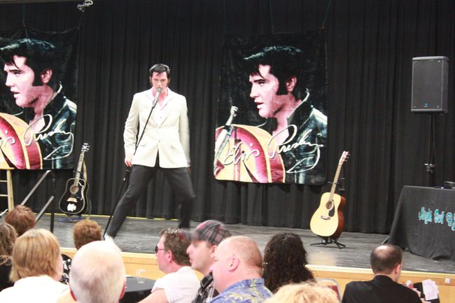 Elvis Tribute artist, Adam Fitzpatrick will be coming to Whtecourt on Jan. 27. This will be Fitzpatrick's fourth visit to Whitecourt, his last visit was in September, pictured here.