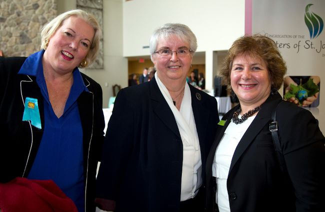 Jennifer Wilson, Sister Jacqueline Janisse and Dr. Gillian Kernaghan were at the official opening of the new St. Joseph's Hospice on Windermere Road in London, Ont. on Monday January 13, 2014. Mike Hensen/The London Free Press/QMI Agency